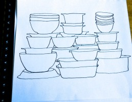 vintage pyrex sketches